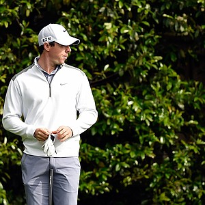 Rory McIlroy during Tuesday's practice round at the 2014 Masters.