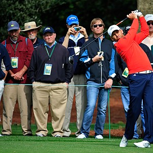 Sergio Garcia during Tuesday's practice round at the 2014 Masters.