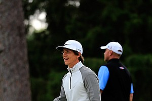 Thorbjorn Olesen during Tuesday's practice round at the 2014 Masters.