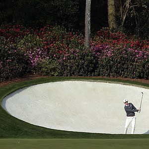 Brandt Snedeker during a practice round for the Masters Wednesday at Augusta (Ga.) National Golf Club.