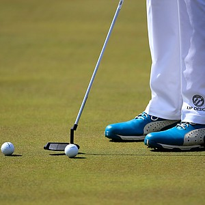 Ian Poulter's Puma golf shoes