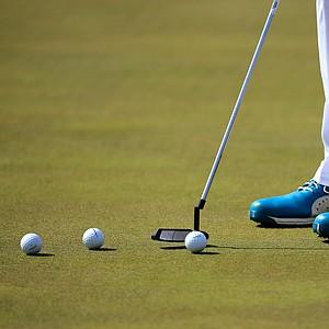 Ian Poulter's Puma golf shoes