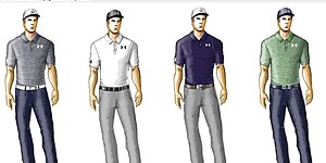 Spieth's scripted apparel for 2014 Masters