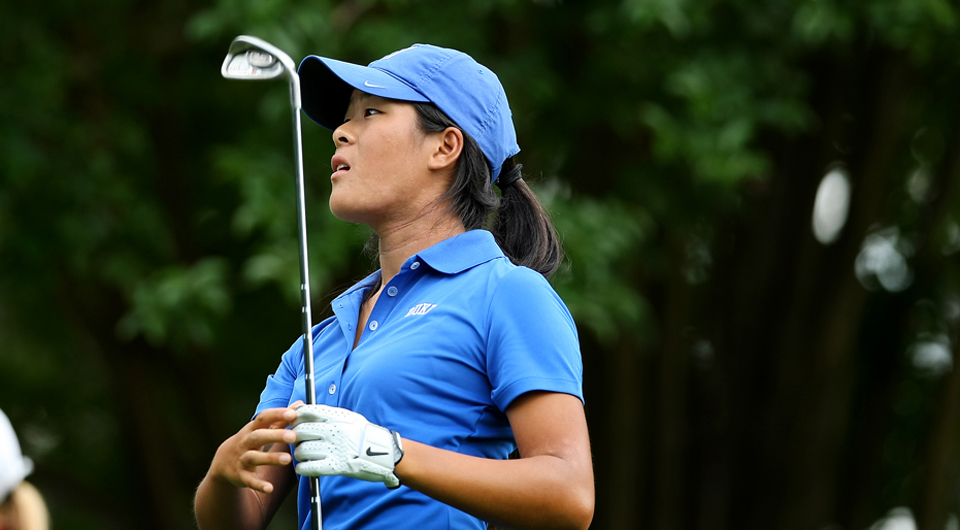 Third-ranked Duke stretched its lead to three shots Friday at the ACC Championship, recording a 1-over 285 to move to 8-over 576 at Sedgefield Country Club in Greensboro, N.C.