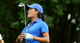 Celine Boutier leads Duke