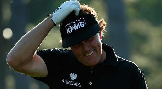 Phil Mickelson was a bit wild with his wedges, leading to a 4-over 76 on Thursday at the Masters.