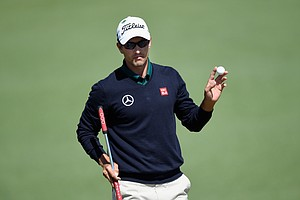 Adam Scott during Thursday's first round of the 2014 Masters at Augusta National.