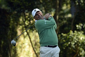 Fred Couples during Thursday's first round of the 2014 Masters at Augusta National.