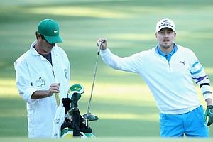 Jonas Blixt during Thursday's first round of the 2014 Masters at Augusta National.