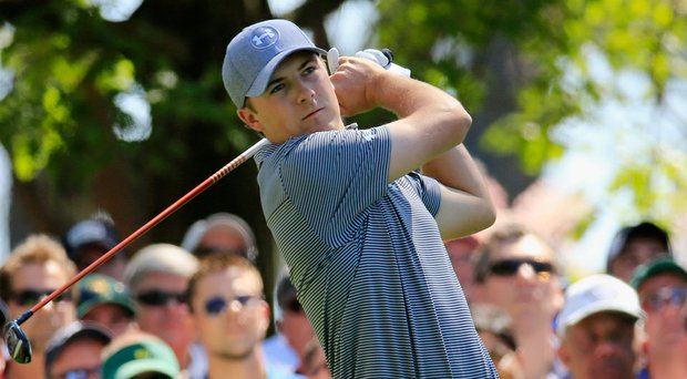 Jordan Spieth during Thursday's first round of the 2014 Masters at Augusta National.