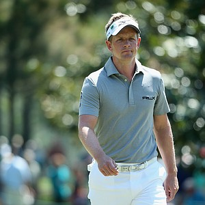 Luke Donald during Thursday's first round of the 2014 Masters at Augusta National.