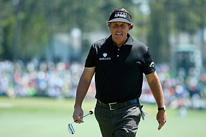 Phil Mickelson during Thursday's first round of the 2014 Masters at Augusta National.