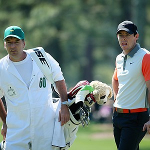 Rory McIlroy during Thursday's first round of the 2014 Masters at Augusta National.