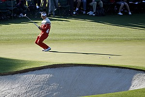 Y.E. Yang during Thursday's first round of the 2014 Masters at Augusta National.