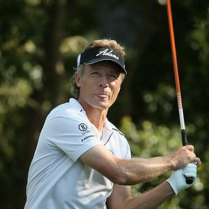 Bernhard Langer during Friday's second round of the 2014 Masters at Augusta National.