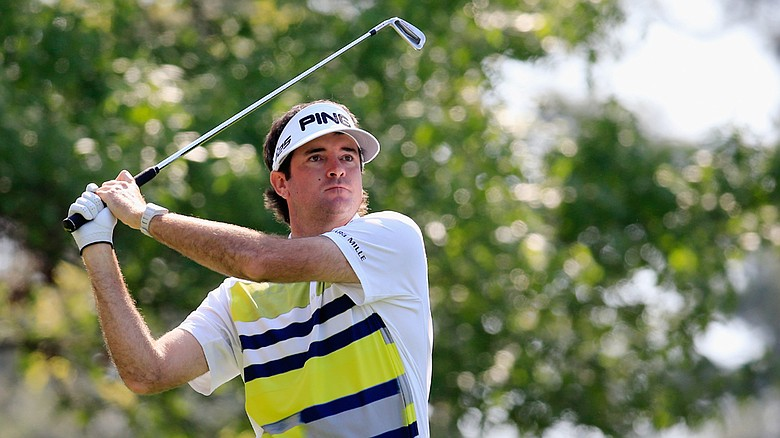 Bubba Watson during the second round of the 2014 Masters at Augusta National.