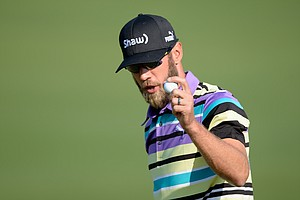 Graham DeLaet during Friday's second round of the 2014 Masters at Augusta National.
