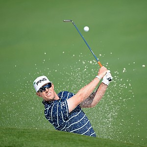 Hunter Mahan during Friday's second round of the 2014 Masters at Augusta National.