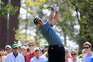 Jason Day during Friday's second round of the 2014 Masters at Augusta National.