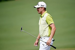 Jonas Blixt during Friday's second round of the 2014 Masters at Augusta National.