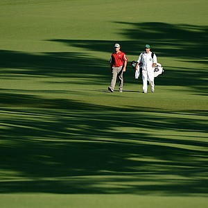 Louis Oosthuizen during Friday's second round of the 2014 Masters at Augusta National.