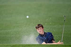 Matt Fitzpatrick during Friday's second round of the 2014 Masters at Augusta National.