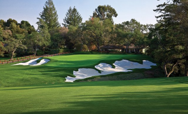 A view of the 16th hole at Pasatiempo Golf Club.