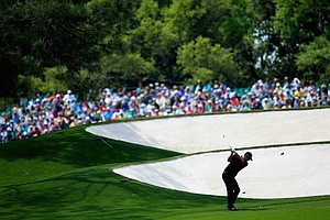 Peter Hason during Friday's second round of the 2014 Masters at Augusta National.