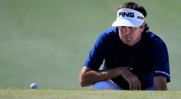 Bubba Watson saw his three-shot lead disappear on Saturday, posting a 2-over 74 and is tied with Jordan Spieth for the lead at the 2014 Masters.