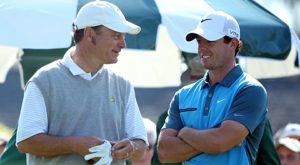 Jeff Knox and Rory McIlroy finished Saturday's round in 3 hours, 5 minutes.