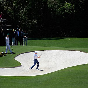 Brandt Snedeker during Saturday's third round of the 2014 Masters at Augusta National.