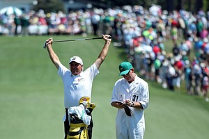 Fred Couples during Saturday's third round of the 2014 Masters at Augusta National.