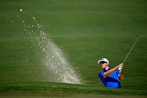 Hunter Mahan during Saturday's third round of the 2014 Masters at Augusta National.