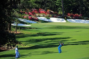 Ian Poulter during Saturday's third round of the 2014 Masters at Augusta National.