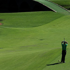 Jamie Donaldson during Saturday's third round of the 2014 Masters at Augusta National.