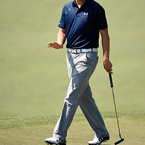 Jordan Spieth during Saturday's third round of the 2014 Masters at Augusta National.