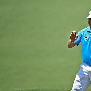 Lee Westwood during Saturday's third round of the 2014 Masters at Augusta National.