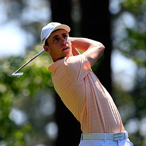 Amateur Oliver Goss during Saturday's third round of the 2014 Masters at Augusta National.