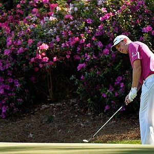 Stephen Gallacher during Saturday's third round of the 2014 Masters at Augusta National.