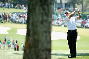 Steve Stricker during Saturday's third round of the 2014 Masters at Augusta National.