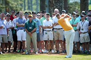 Stewart Cink during Saturday's third round of the 2014 Masters at Augusta National.