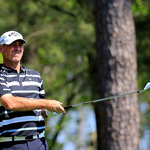 Thomas Bjorn during Saturday's third round of the 2014 Masters at Augusta National.