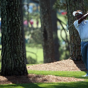 Thongchai Jaidee during Saturday's third round of the 2014 Masters at Augusta National.