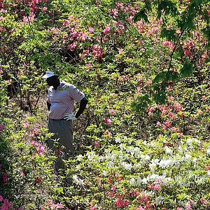 Vijay Singh during Saturday's third round of the 2014 Masters at Augusta National.