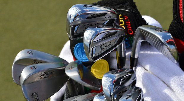 The clubs that Jordan Spieth has used at the Masters.