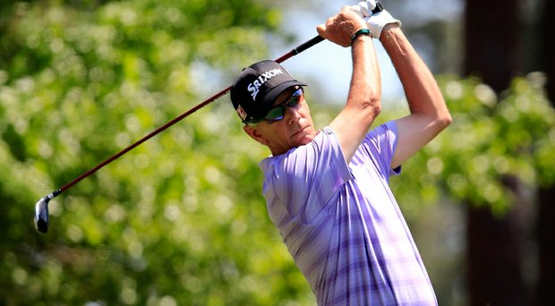 Larry Mize shot a 7-over 79 on Sunday and finished 16 over for the 2014 Masters.