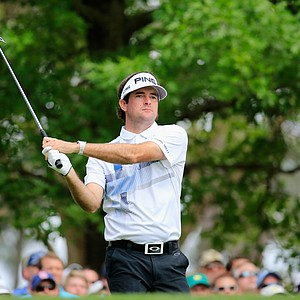 Bubba Watson during Sunday's final round of the 2014 Masters at Augusta National.
