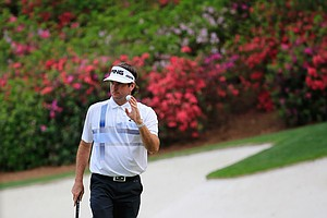 Bubba Watson during Sunday's final round of the 2014 Maters at Augusta National.