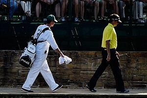 Bubba Watson during Thursday's first round of the 2014 Masters at Augusta National.