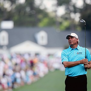 Fred Couples during Sunday's final round of the 2014 Masters at Augusta National.